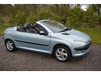 PEUGEOT CONVERTIBLE 206, CC, 3DR, QUICK SELL, £695