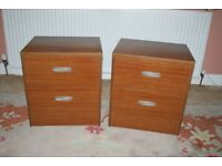 Pair of Bedside two drawer Cabinets