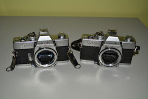Lot of 2 Minolta 35mm SLR Film Camera Bodies, SRT200 and SRT201