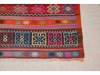 Vintage Kilim rug - 143cm by 190cm