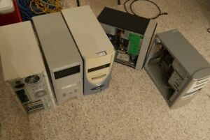 5 PC's for sale - Cases, PSU's, Motherboard's, HDD - $60