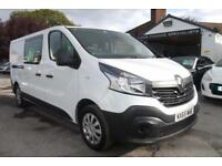 2015 65 Renault Trafic 1.6dCi Crew Van 6 Seats LL29 115 Business LOW MILES