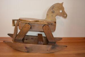 Handmade Wooden Canadian Made Rocking Horse