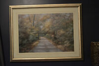 gorgeous print of country road