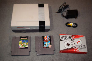Nintendo NES bundle with 2 games