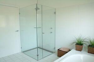 Complete L-shaped frameless shower screen *INSTALLED*