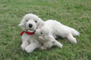 GOLDEN RETRIEVER WITH PUPPY PLUSH DOG