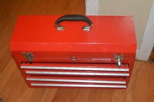 Blue point small red tool box 4 drawer metal tool storage.