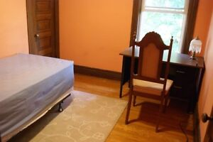 One 2nd-floor bedroom for rent since May 1st. All inclusive