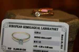 NEW Certified Natural Diamond Solitaire Gold Ring 1/2 Price!