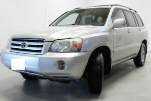 Toyota Highlander 2004, accident free, V6 AWD. winter tires