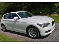 BMW 116D 2 0 SE 2013 DIESEL REAR PARK AIDS BLUETOOTH TAX £30 WHITE METALLIC