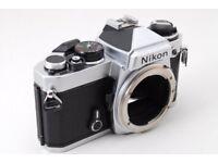 Nikon 35mm Film Camera With Lens