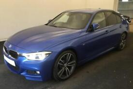 2016 BLUE BMW 330D 3.0 M SPORT DIESEL AUTO 4DR SALOON CAR FINANCE FR £88 PW