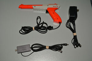 Official Nintendo NES Accessories, Zapper, Power Supply RF Cable