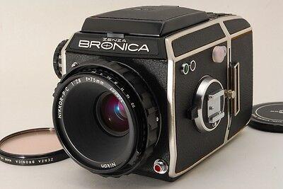 【Near Mint】Zenza Bronica EC w/ Nikkor P.C 75mm f/2.8, Film Back from Japan #126