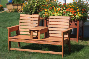 Rustic Double Park Bench - New - Save $15