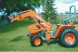 Kubota Industrial compact tractor B20 with loader