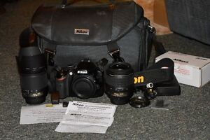 Refurbished Nikon D3200 with two lenses, case and wi-fi 24mp