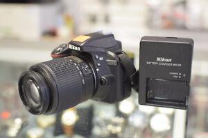 *GREAT DEAL* Nikon D3300 24.4MP +55-200mm AF-S Lens + Charger