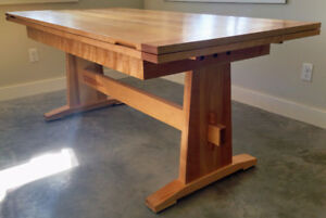 Exquisite one-of-a-kind Dutch-Pullout Table Craftsman built