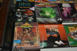 Retro 3.5 and 5.25 floppy pc games-complete with box collectible