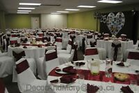 Sashes - Tablecloths - Tableskirts - Napkins - Chair Covers