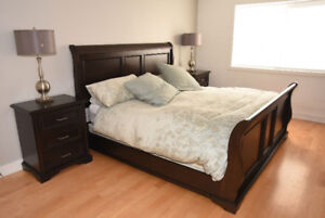 BEAUTIFUL high-end, solid wood KING Bedroom Set - MINT CONDITION