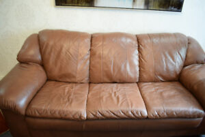 Moving Sale - Very good quality Sofa and Loveseat + Table