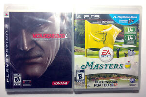 PS3 - Metal Gear Solid 3 & Tiger Woods PGA Tour 2012 - New
