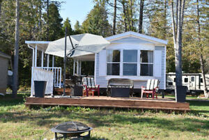 Mobile home at Serenity Bay Resort on Mink Lake!