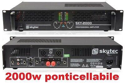 AMPLIFICATORE FINALE DI POTENZA PA 2000w MK2 PROFESSIONALE x casse passive dj