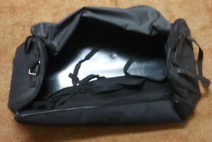 New and used bags for drums, sticks and hardware.