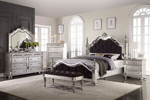 FURNITURE SALE 7 PC GORGE SILVER BEDROOM SET FOR $2499 ONLY