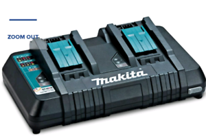 MAKITA 18V LITHIUM-ION DUAL-PORT RAPID BATTERY CHARGER DC18RD