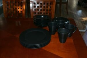 Dishes, place setting for 4
