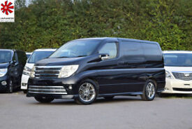 2006 (06) NISSAN ELGRAND RIDER 3.5 V6 Automatic Black 8 Leather Seats Face-lift