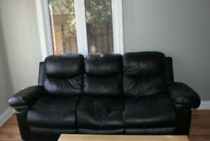 Bonded Leather Sofa, Loveseat and Chair. All Reclining