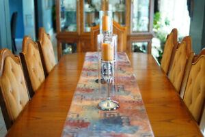 Oak Dining Room Furniture 10 piece  Set