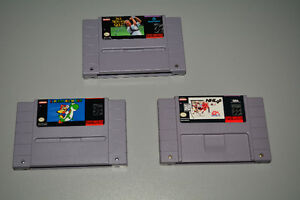 Super Nintendo SNES Games, Mario World, NHL 96, Nicklaus Golf