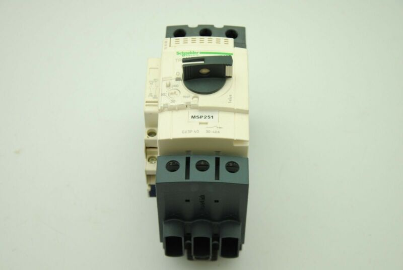 Schneider Electric GV3P 40 30-40A 690V 50/60Hz Manual Motor Starter Switch DIN