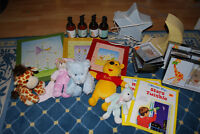 Lot of baby room items and toys