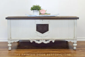 Antique Cedar Lined Chest/Coffee Table/Bench