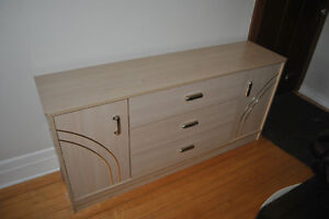 Commode beige tiroirs et portes - Beige dresser with drawers
