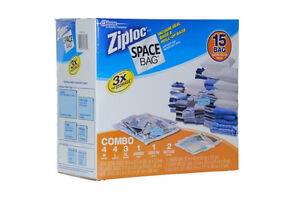 Ziploc 15 bag space saver bags for traveling