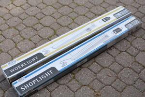 New Fluorescent 4 ft. Shop / Work Lights, T8 Ballasts, T8 Bulbs