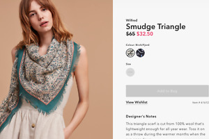 WANTED: Aritzia Wilfred Smudge Triangle Scarf in Birch/Fjord