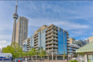 Harbourfront: Large one bedroom (1,200 sf) w/ parking and locker