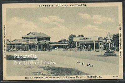 LA Franklin LITHO c'40 ROADSIDE COTTAGES & GAS STATION