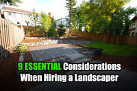 LOOKING For a REPUTABLE Landscaping Contractor?